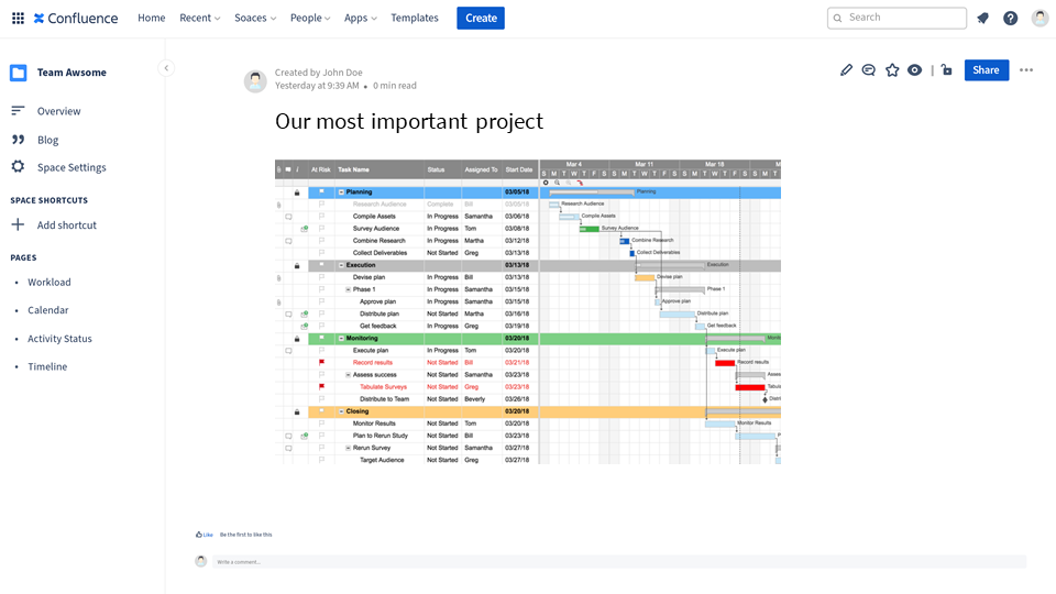 How to integrate Smartsheet into Confluence Cloud - complex-gantt