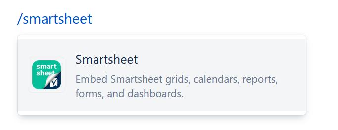 slash smartsheet command