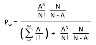 Erlang C formula for staffing global service desk
