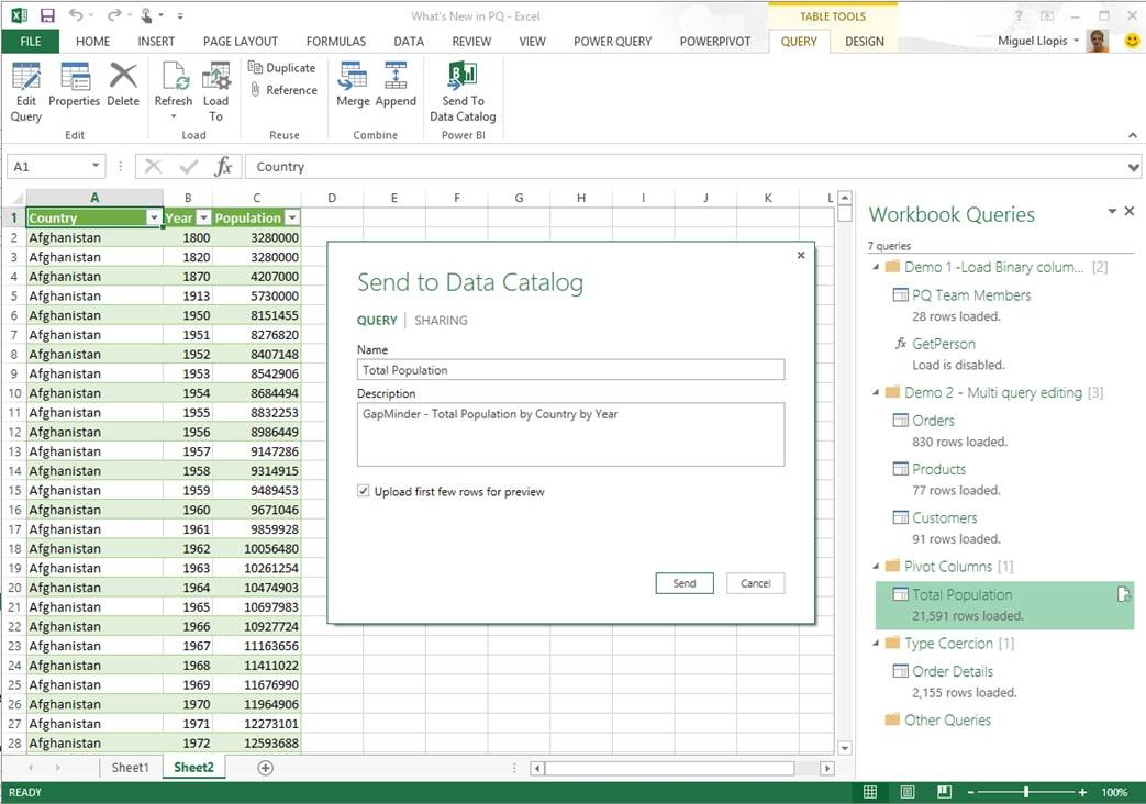 Excel connection with Power BI