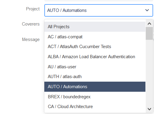 Selection of Jira project for automated assignments