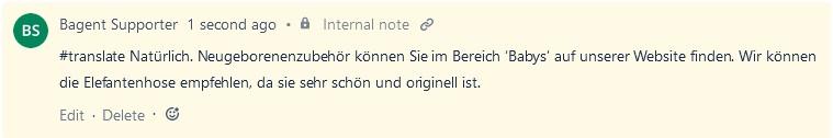 automatic translation German message in Jira Service Desk